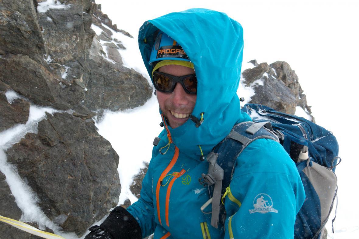 Honza Trávníček při sestupu z K2