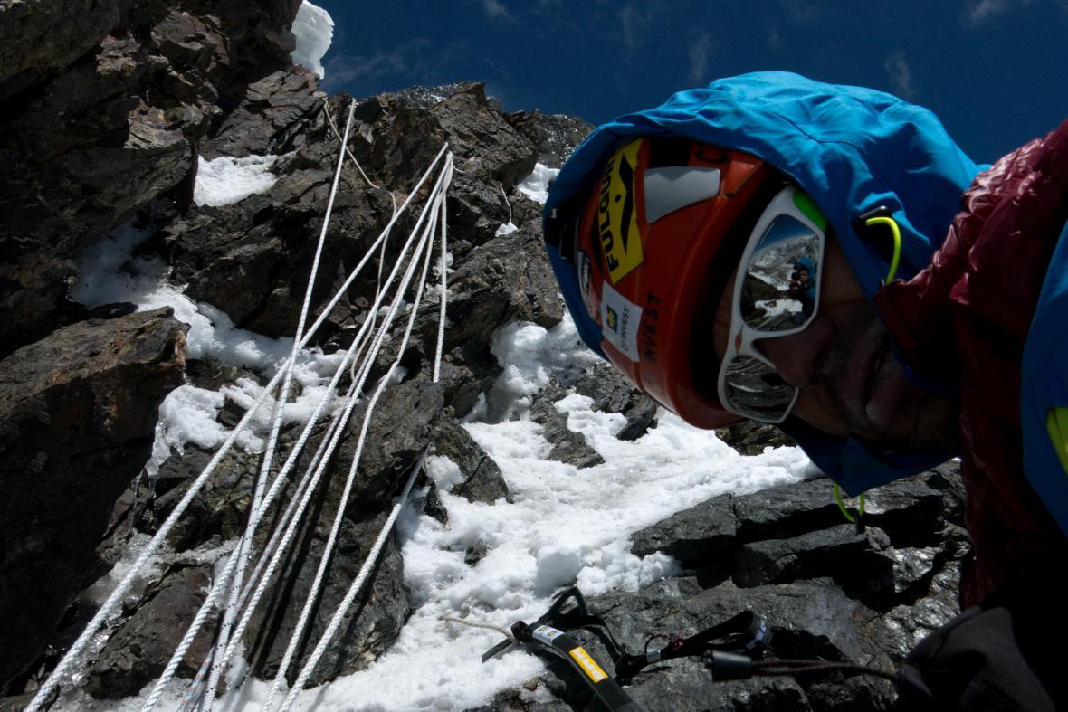 Radek Jaroš při výstupu na K2