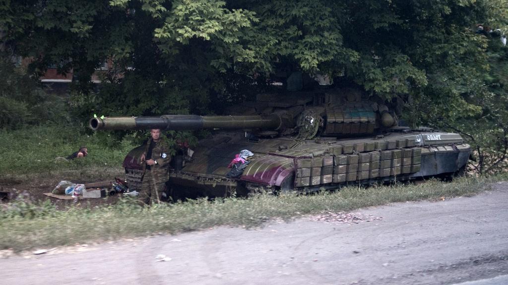Povstalecká hlídka nedaleko Šachťarsku