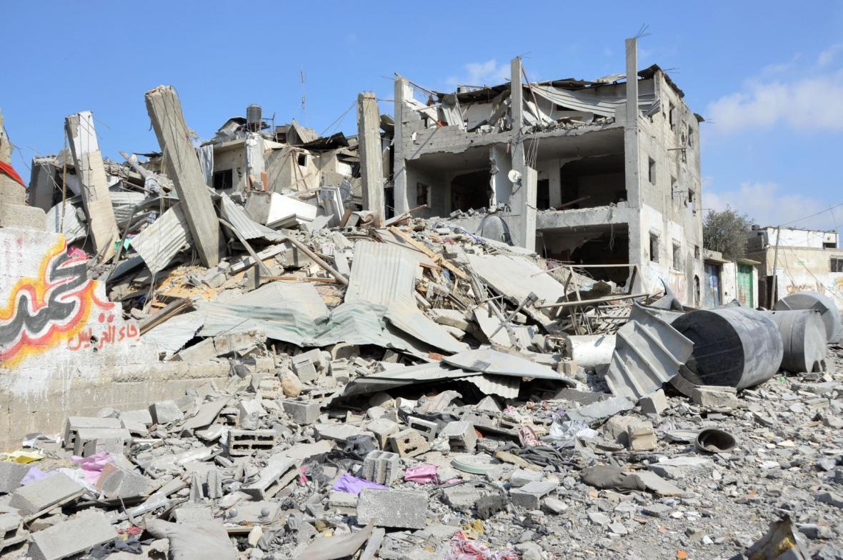 Důsledky náletů v Gaze