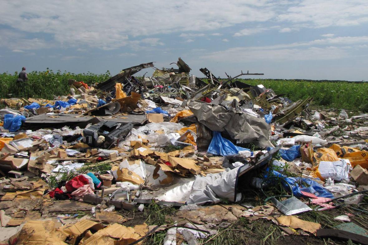 Katastrofa MH17: To, co zbylo z letadla