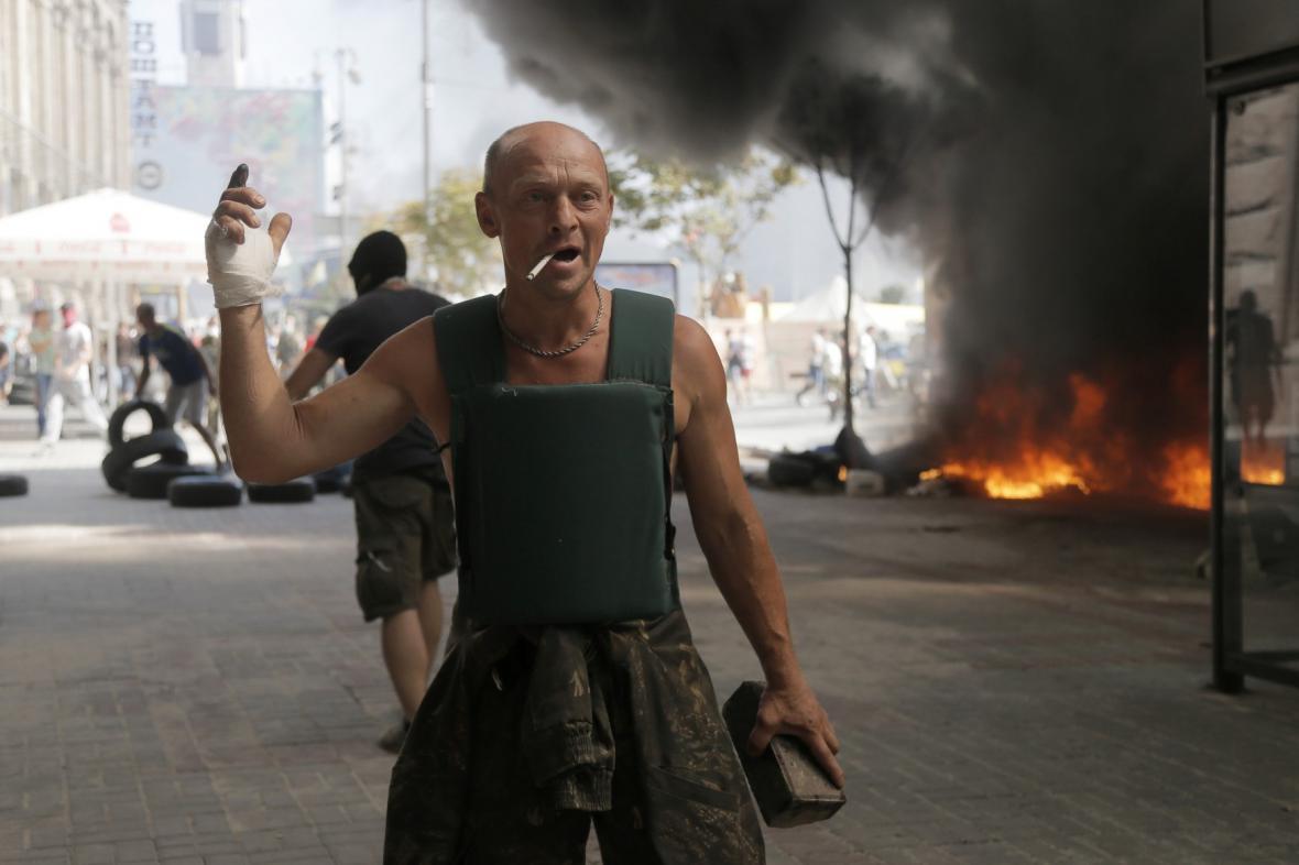 Boje o barikády v Kyjevě
