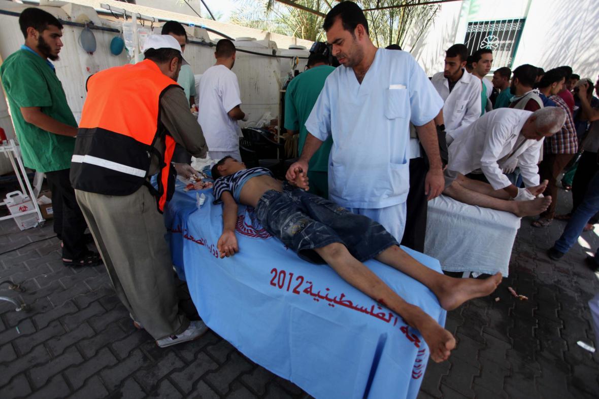 Zranění po útoku na Rafah