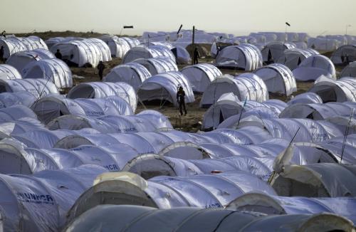 Uprchlický tábor na hranici Libye a Tuniska