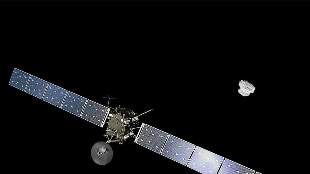 Sonda Rosetta už je u své komety