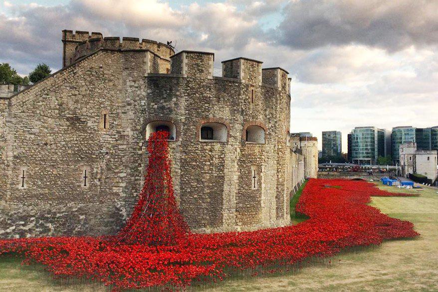 Pomník obětem války v londýnském Toweru