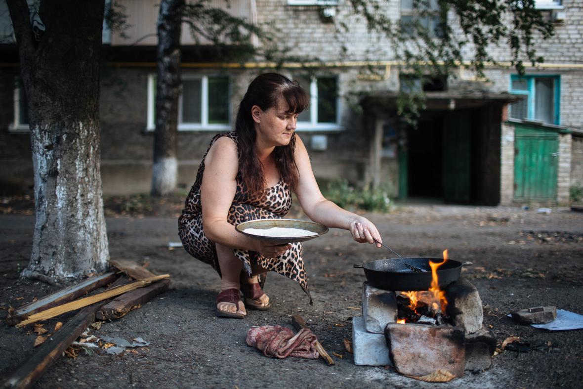 Obyvatelé obklíčeného Doněcku jsou bez plynu