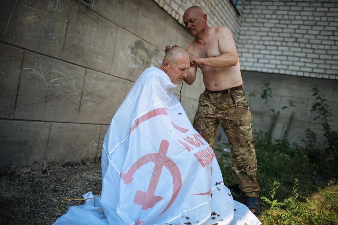 Dobrovolníci z řad Donbaského batalionu