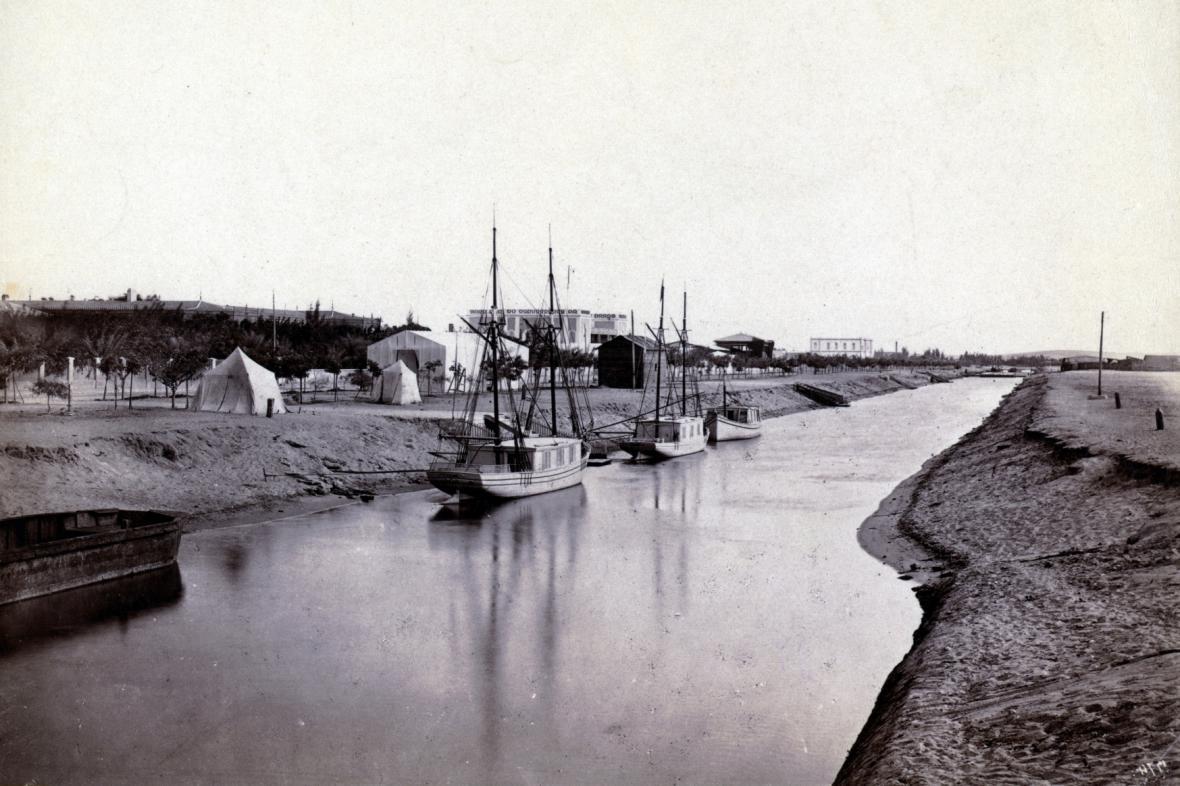 Suezský průplav v roce 1900