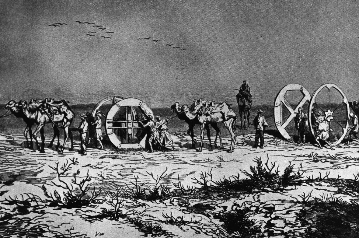 Stavba Suezského průplavu (1859)
