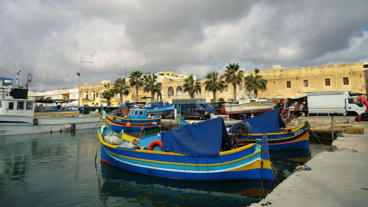 Tradiční maltské loďky