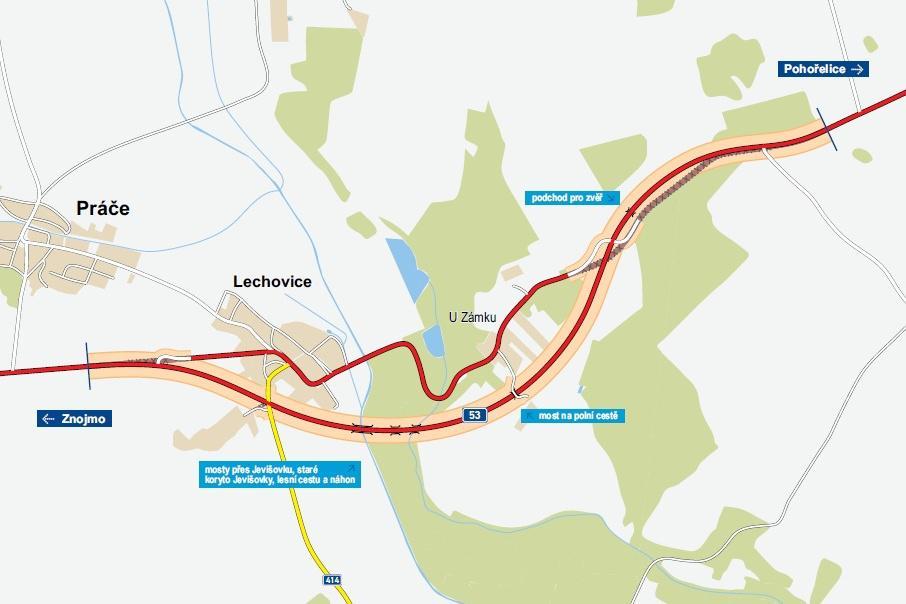 Plán obchvatu Lechovic