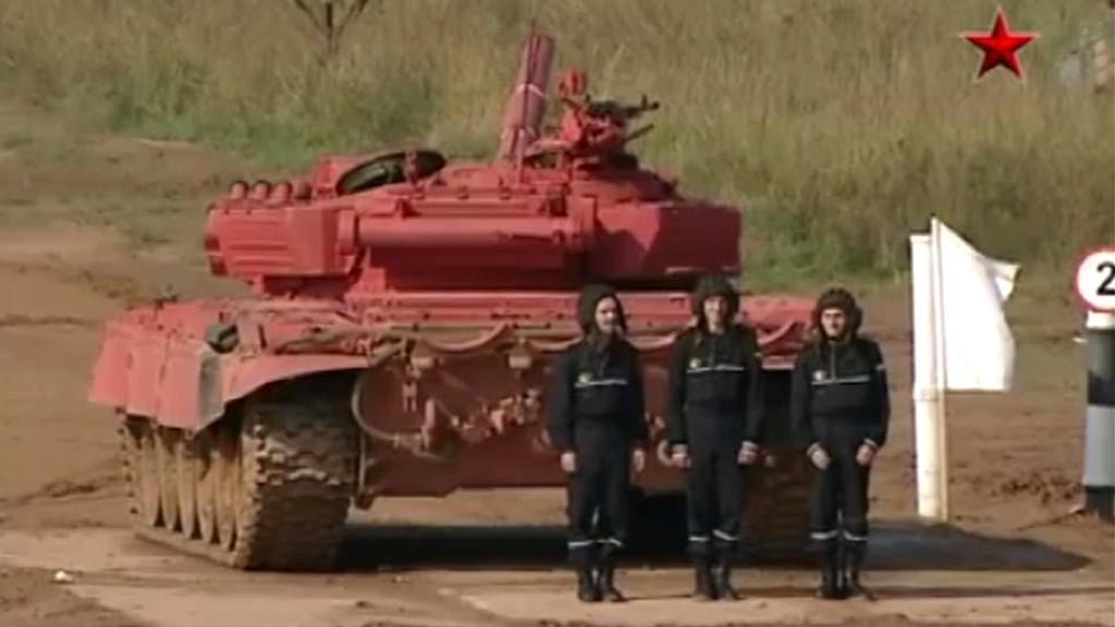 Tankový biatlon v Rusku