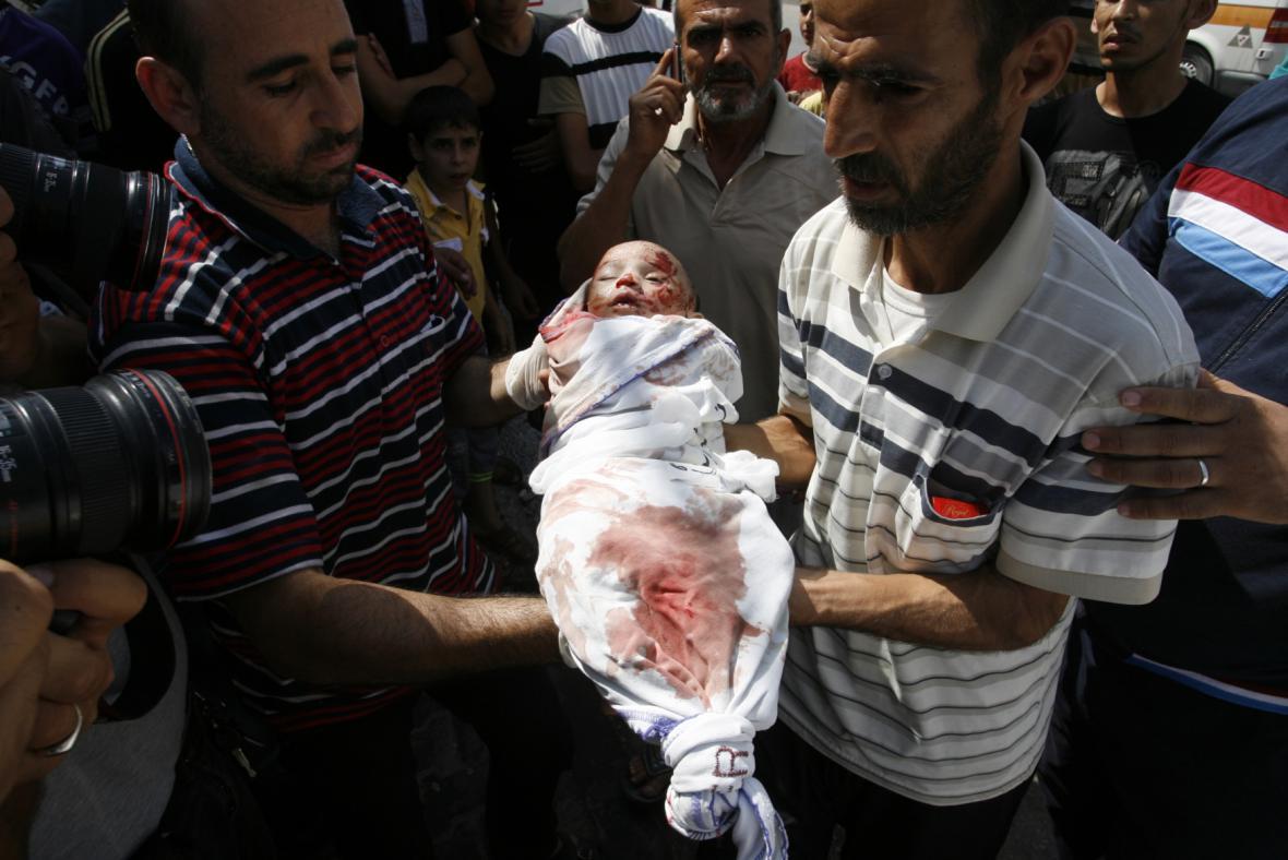 Údery v Gaze