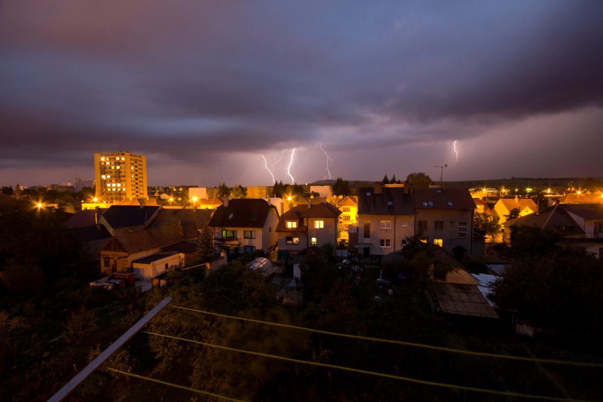 Noční bouřka u Kyjova