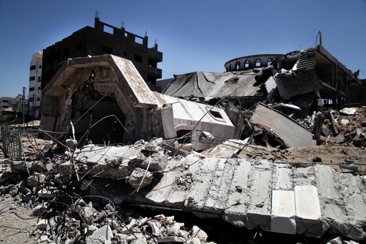 Důsledků náletů v Pásmu Gazy