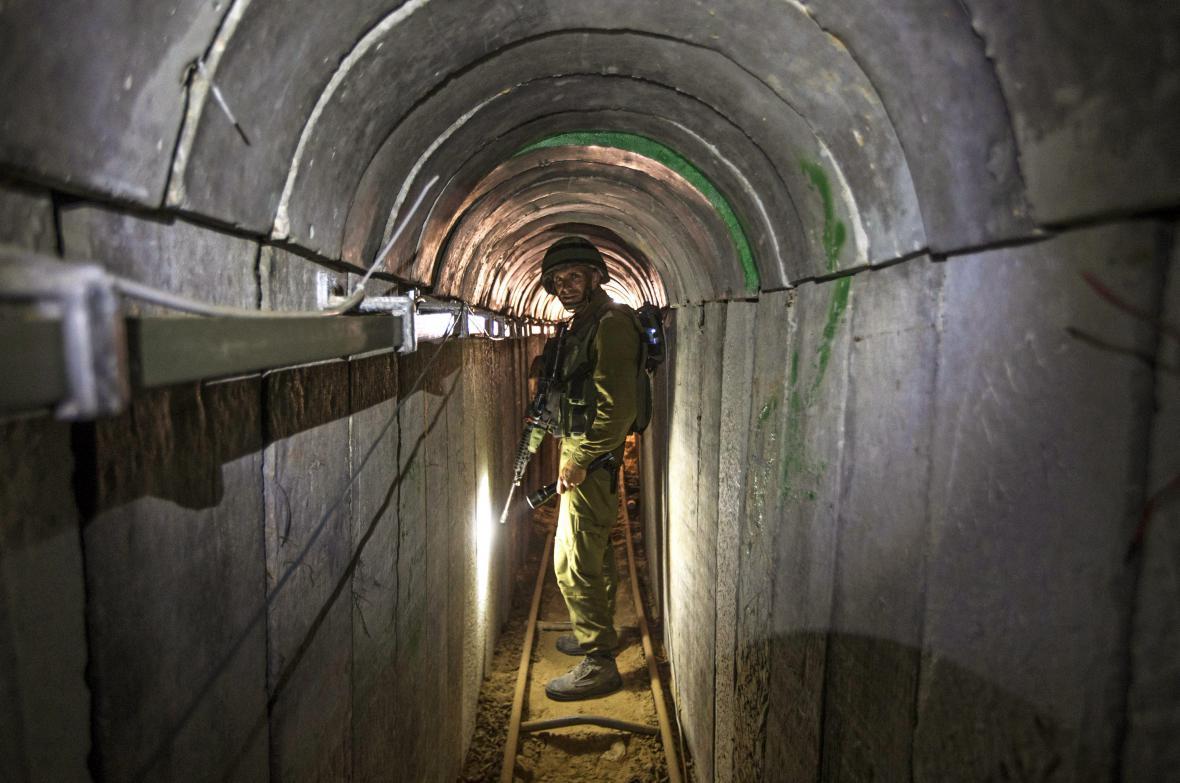 Tunel vedoucí z Gazy do Izraele