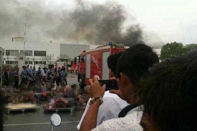Exploze v čínské továrně