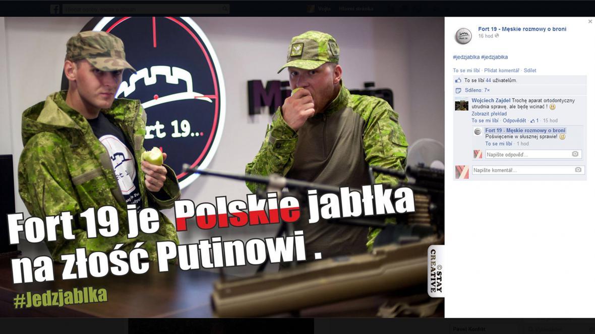 Polské jablko na sociálních sítích