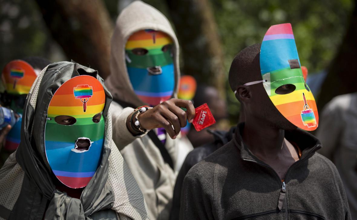 Demonstrace na podporu homosexuálů v Ugandě