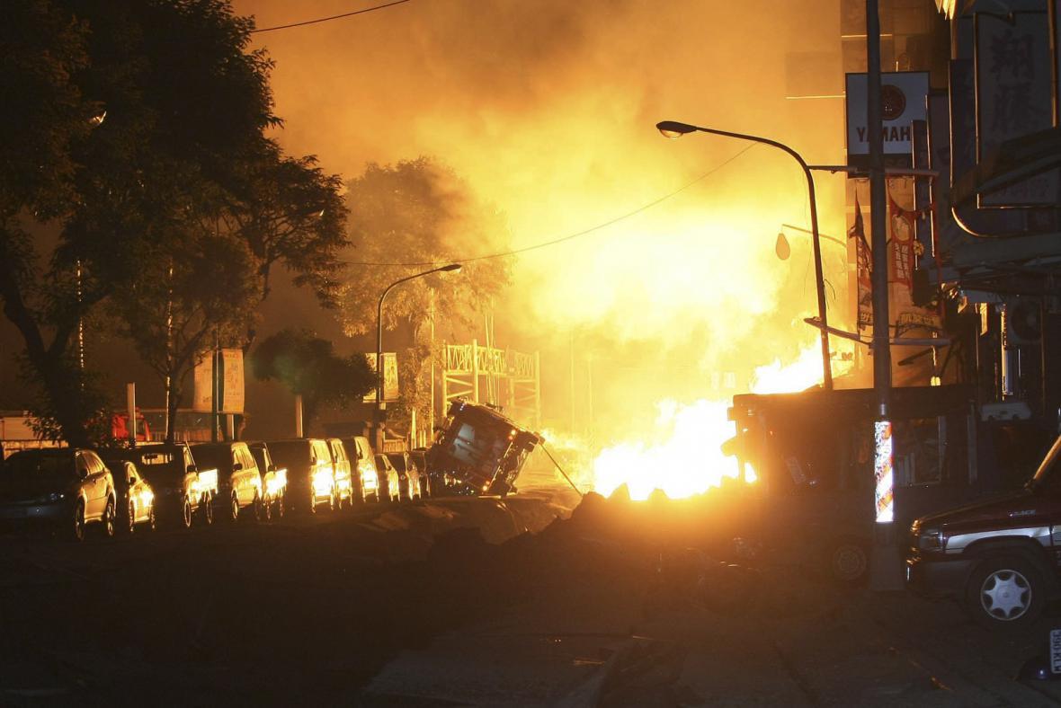 Exploze plynu na Tchaj-wanu