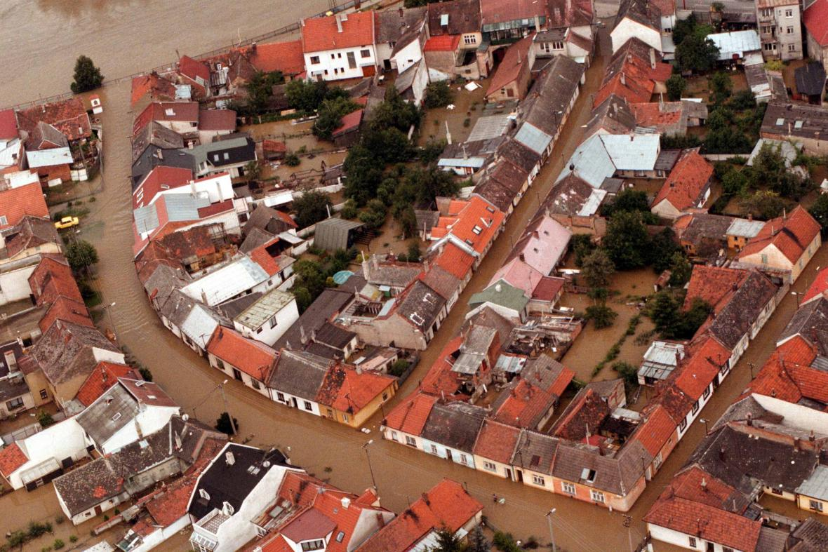 Povodně v Uherském Hradišti 1997