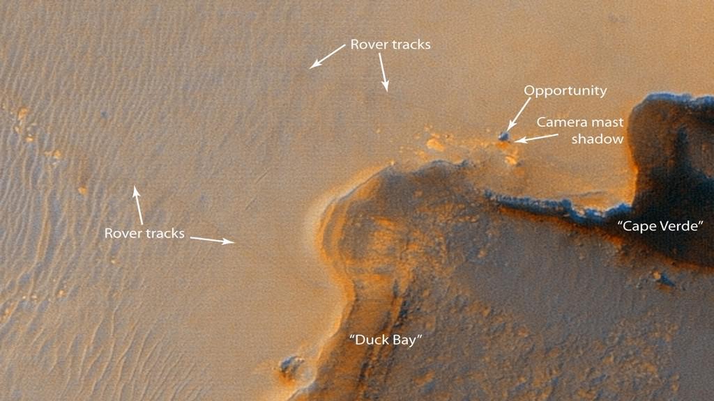 Vozítko Opportunity už jezdí po Marsu 10 let