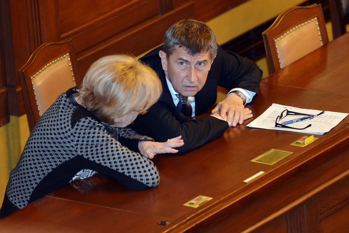 Helena Válková a Andrej Babiš