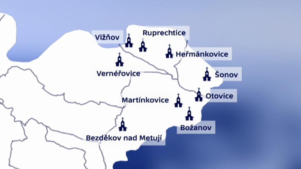 Jedinečný soubor barokních kostelů Broumovska