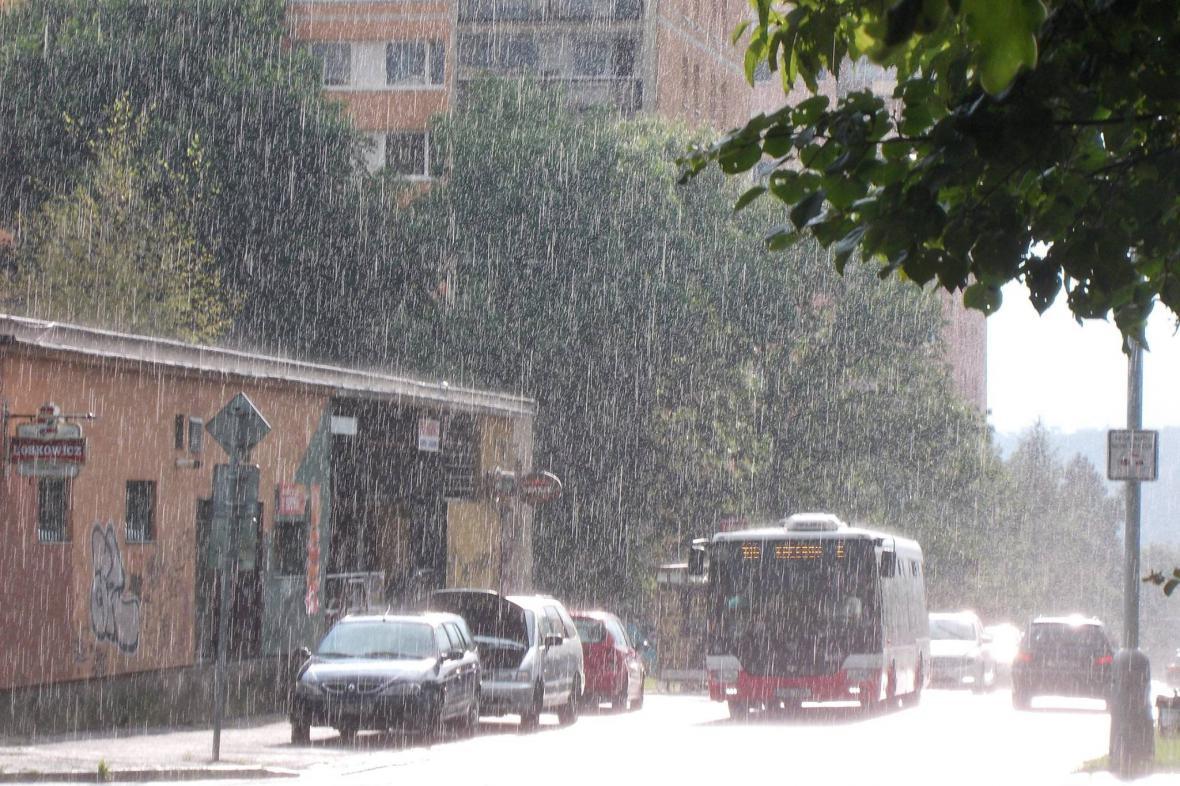 Déšť v Praze