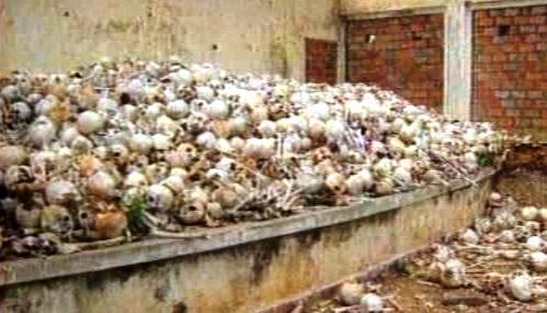 Ostatky obětí Rudých Khmerů