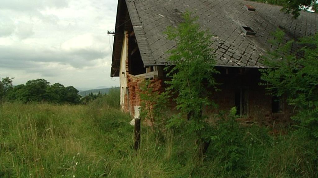 Opuštěná usedlost Pohádka nedaleko Čachrova na Klatovsku