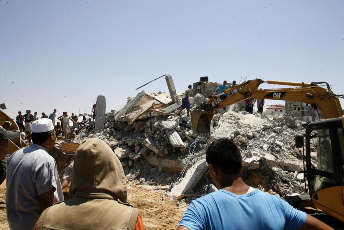 Útoky izraelské armády v Pásmu Gaza