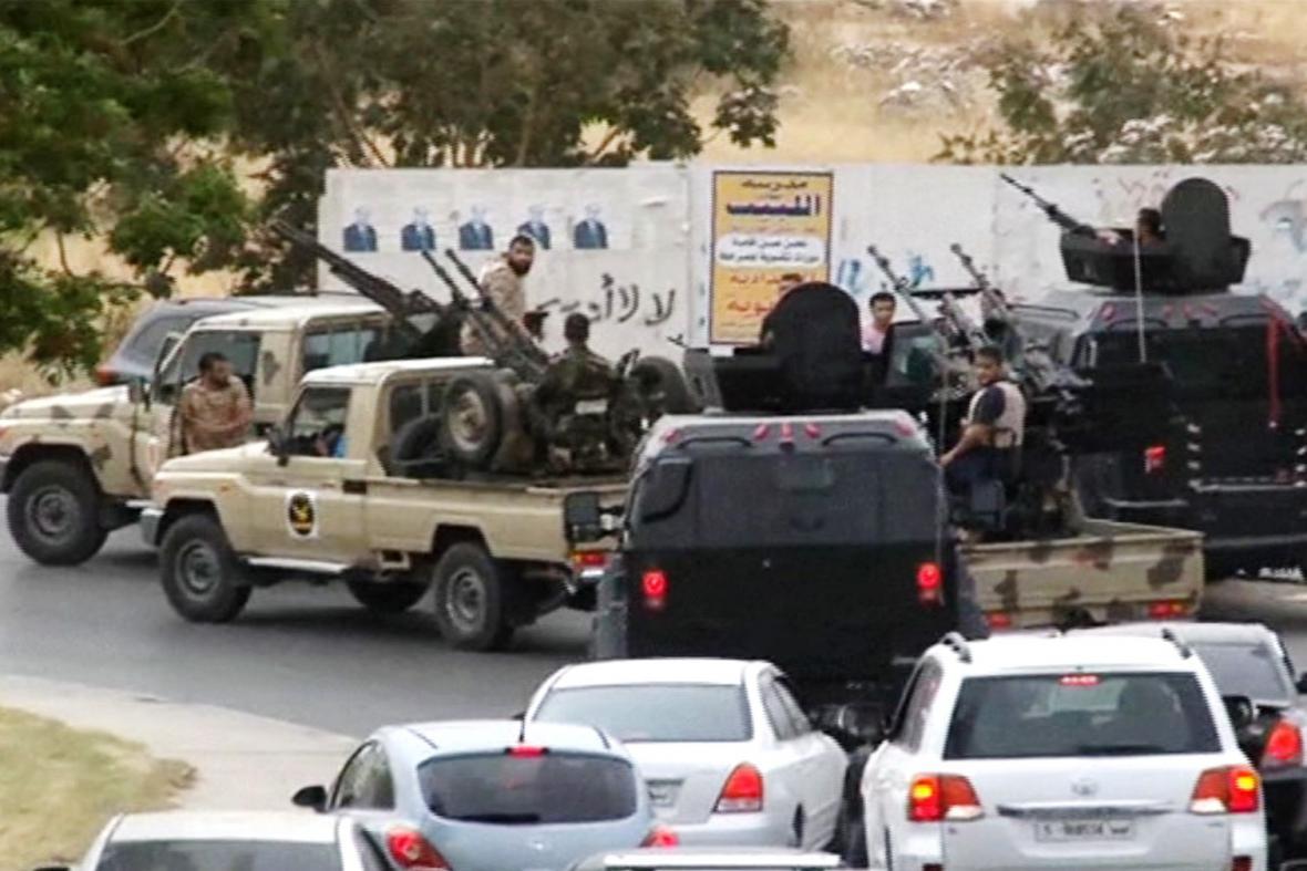 Libyjské milice v akci