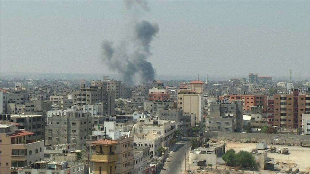 Dým nad pásmem Gazy