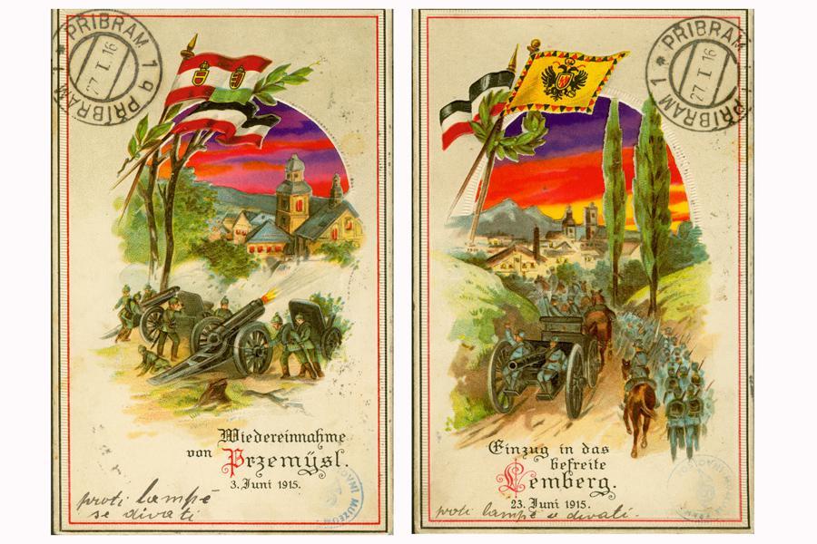 Pohlednice z fronty 1. světové války
