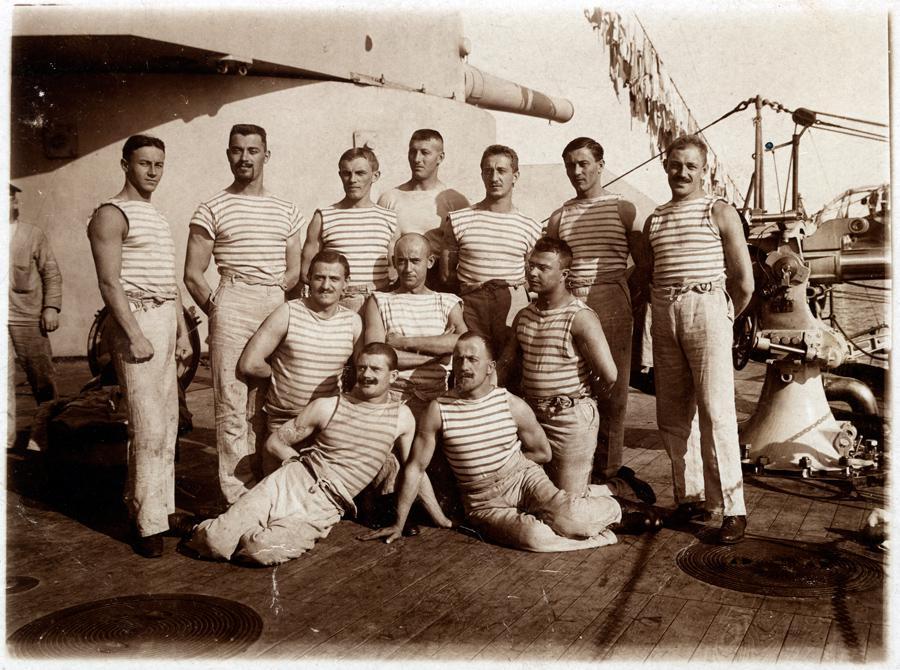 Čeští námořníci na bitevní lodi Tegetthoff