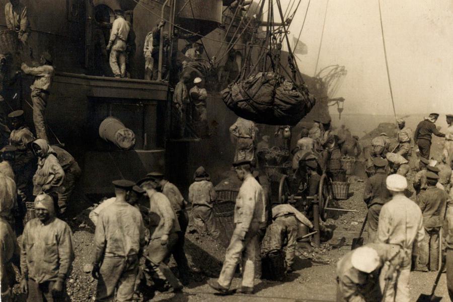 Na palubě bitevní lodi před vyplutím