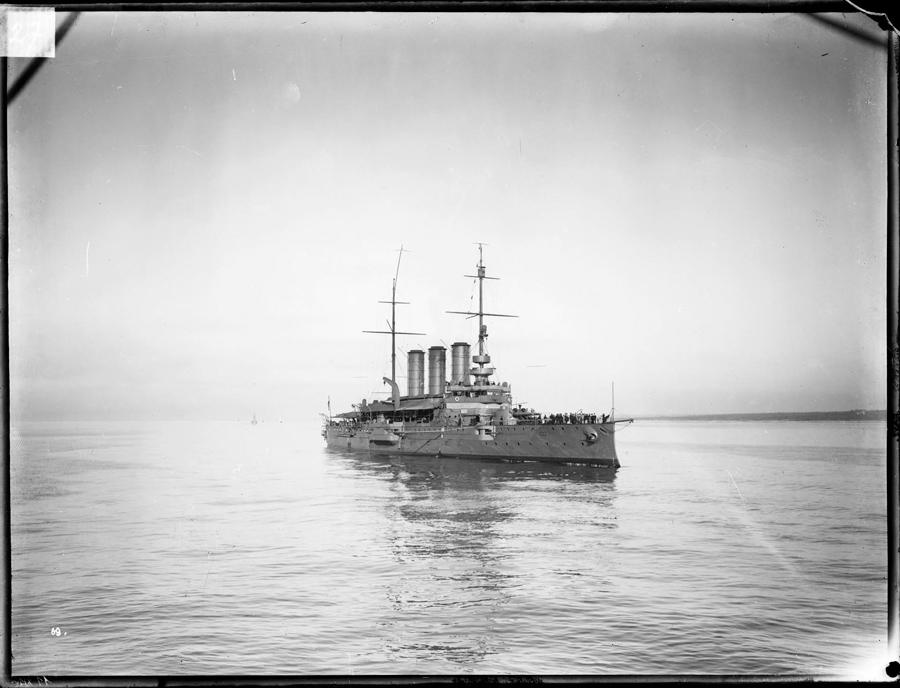 Pancéřový křižník Sankt Georg mezi lety 1906 a 1908