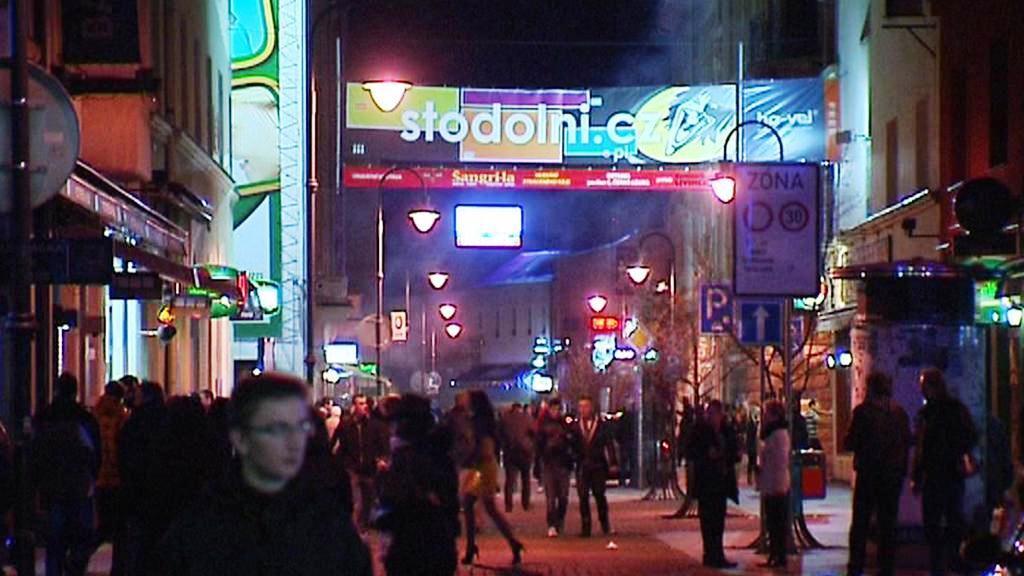 Noční Stodolní ulice