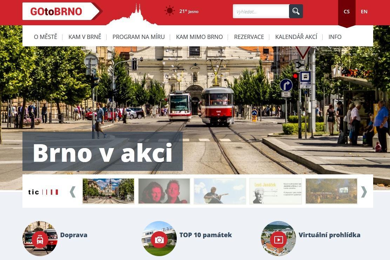 Turistický portál Go to Brno