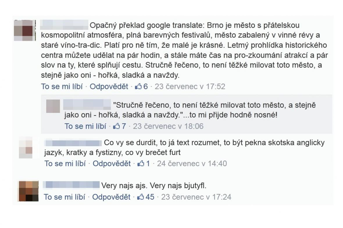 Reakce na portál Go to Brno