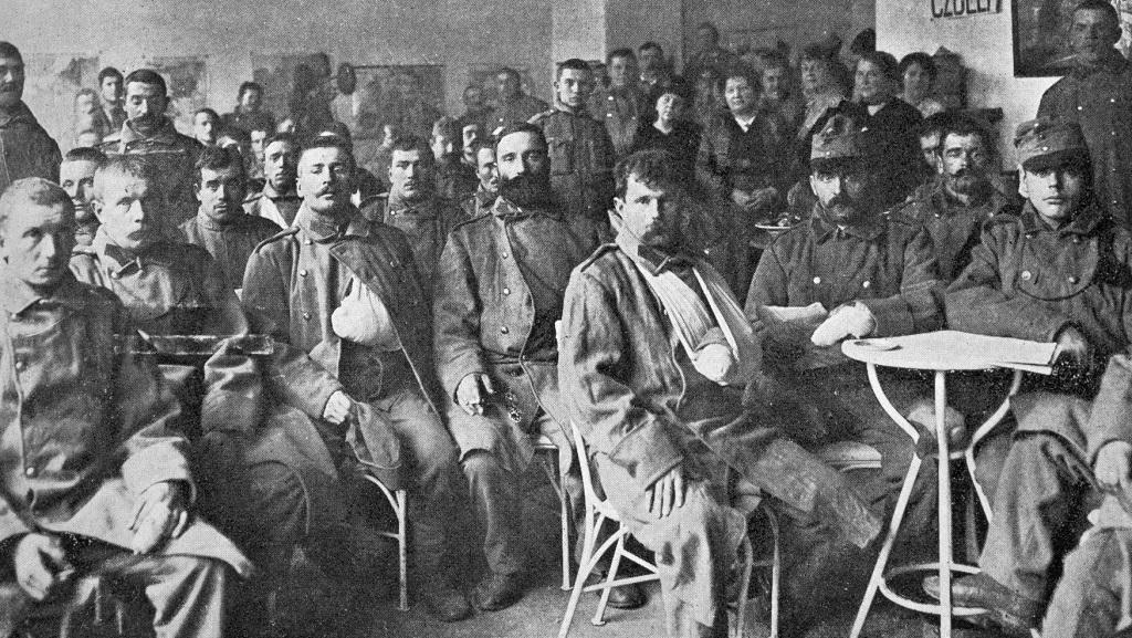 Ranění vojáci v pražském lazaretu