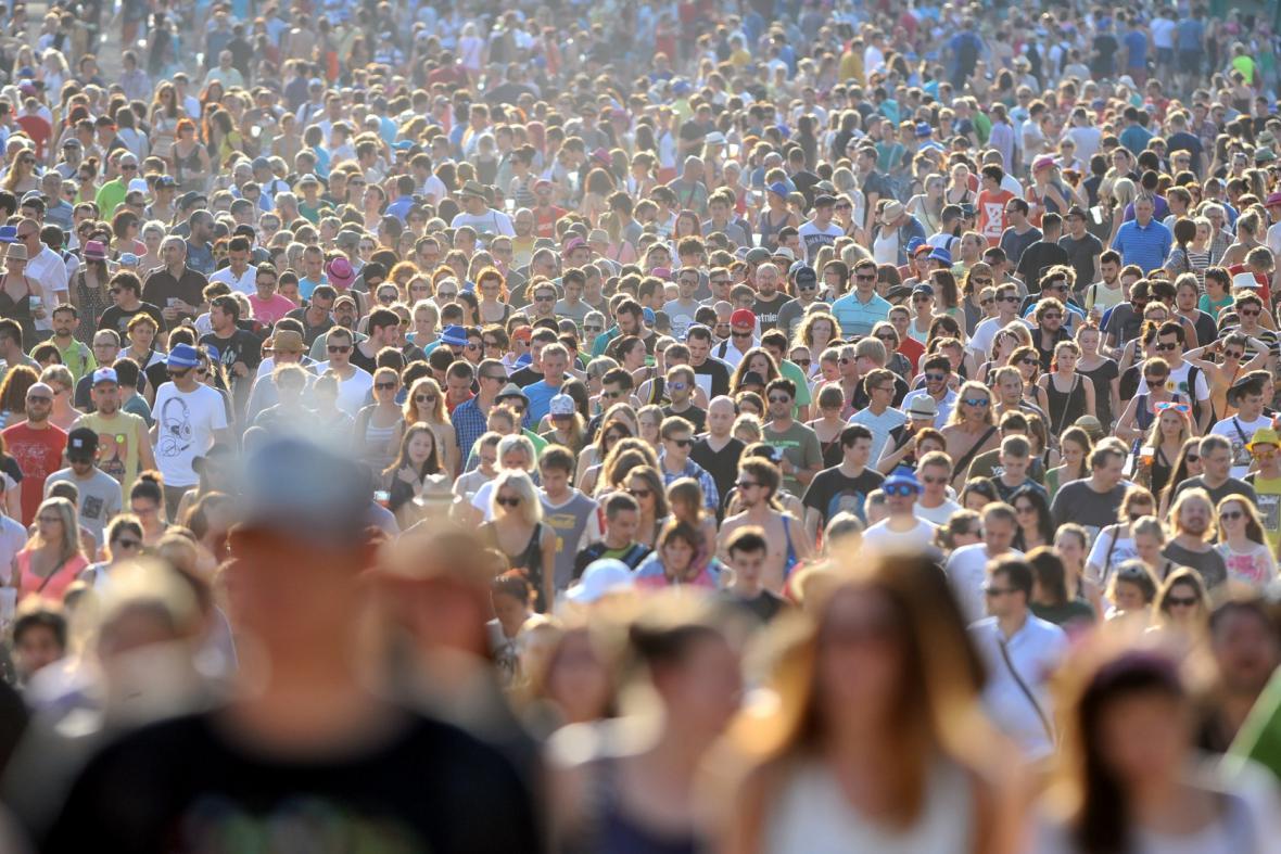 Festivalový dav