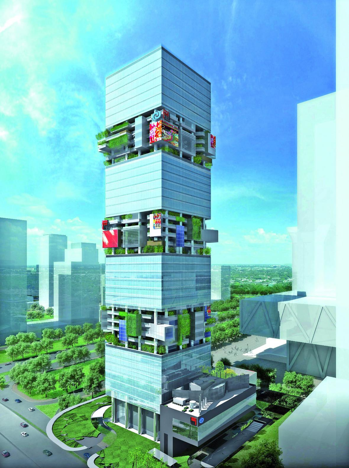 SBF Tower, Čína / Hans Hollein