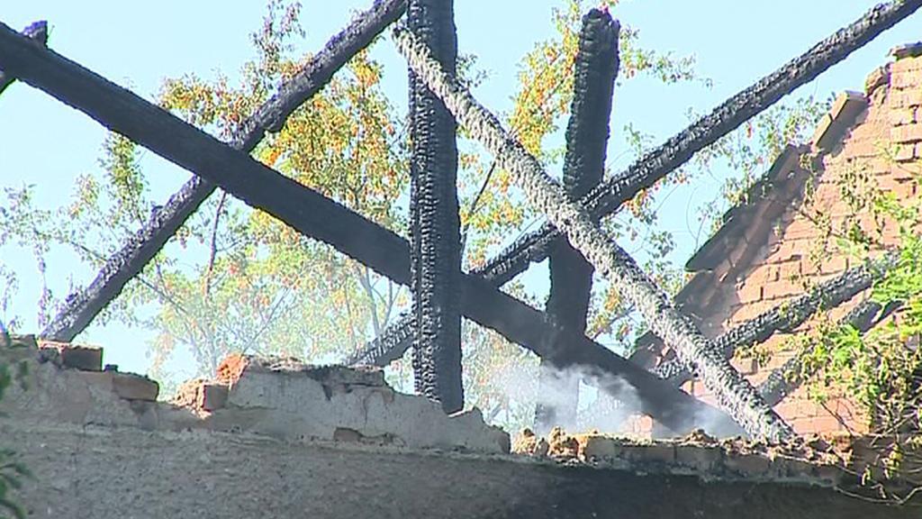 Vyhořelá střecha