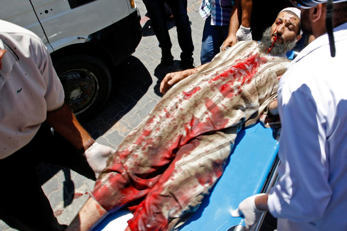 Palestinec zraněný během izraelského náletu