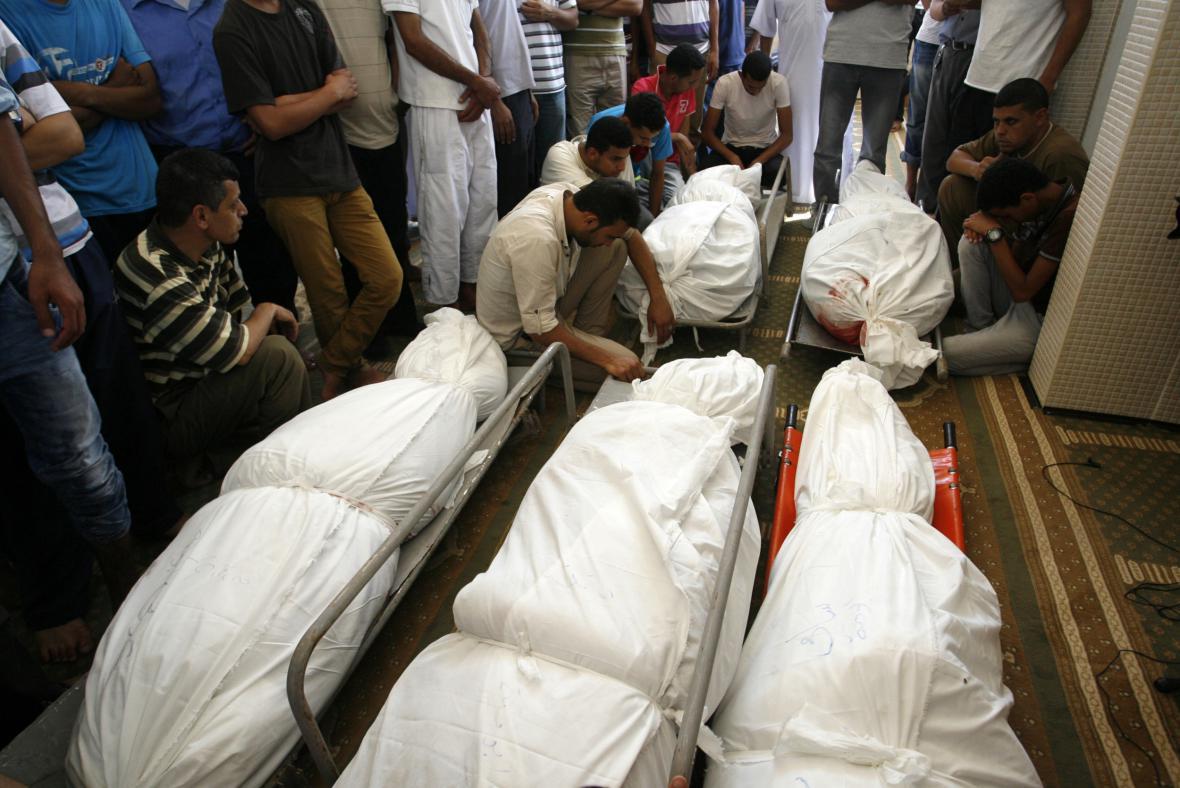 Palestinské oběti bojů v Gaze