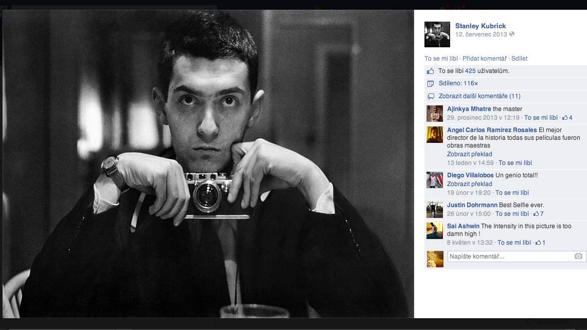 Selfie Stanleyho Kubricka