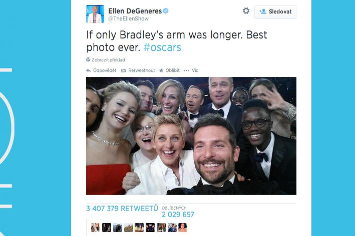 Selfie Ellen DeGeneresové